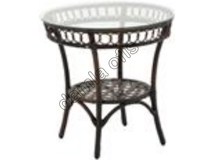 Yuvarlak rattan bahçe mobilyaları, yuvarlak bahçe masası, rattan bahçe masası.
