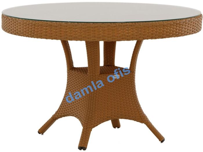 Yuvarlak bahçe masası, rattan masa, rattan bahçe masası, bahçe masası modelleri.